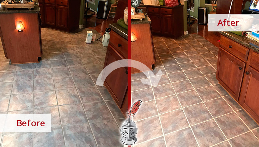 Aged And Shabby Tile Floor Our Grout Sealing In Charlotte Nc Is The