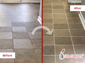 Revamped New Look After This Floor Restoration Performed by Our Grout Cleaning Professionals in Belmont